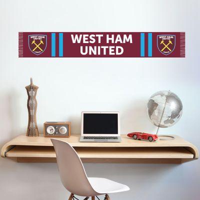 West Ham United Football Club - Hammers Scarf Wall Sticker