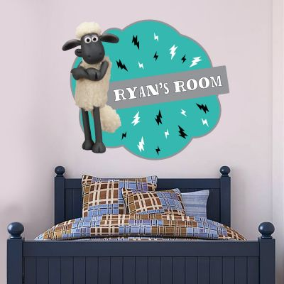 Shaun The Sheep - Personalised Wall Sticker