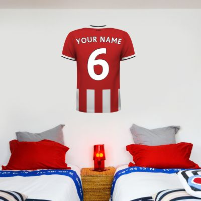 Sheffield United F.C. - Personalised Name & Number Shirt Wall Sticker
