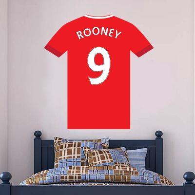 Aberdeen Football Club - Personalised Shirt Wall Sticker