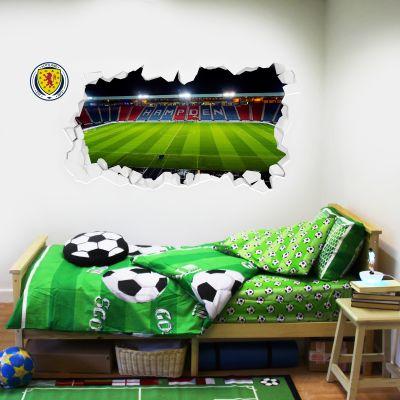 Scotland National Team - Smashed Hampden Park Stadium Wall Sticker + Decal Set
