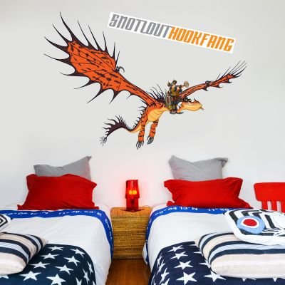 How To Train Your Dragon - Snotlout & Hookfang Wall Sticker Set