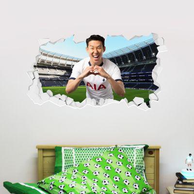Tottenham Hotspur Football Club - Son Heung-min Broken Wall Sticker + Spurs Wall Sticker Set