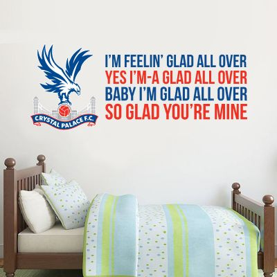 Crystal Palace F.C. - Crest & 'Glad All Over' Song  Wall Sticker