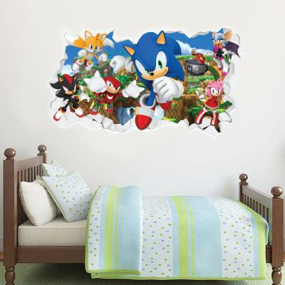 Sonic The Hedgehog - All Charaters Smashed Wall Sticker