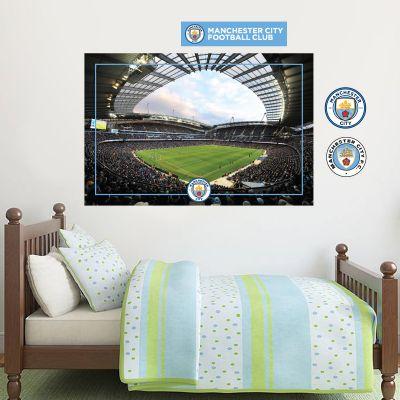 Manchester City Football Club - Etihad Stadium Wall Decal + Bonus Wall Sticker Set