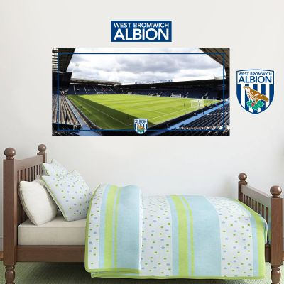 West Bromwich Albion Football Club - Hawthorns Stadium + Baggies Wall Sticker Set
