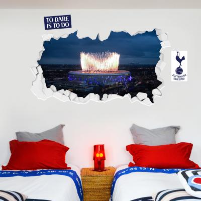 Tottenham Hotspur Football Club - Stadium Broken Wall Mural (Outside) + Spurs Wall Sticker Set
