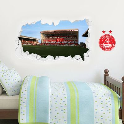 Aberdeen Football Club - Smashed Pittodrie Stadium Stand Wall Sticker
