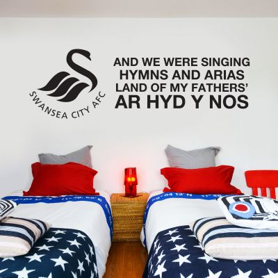 Swansea City Football Club - 'Hymns & Arias' Song Wall Sticker