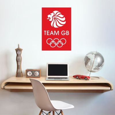 Official Team GB Red and White Logo Wall Sticker