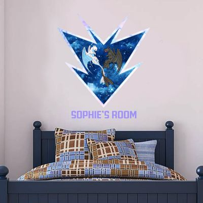 How To Train Your Dragon - Toothless & Light Fury Personalised Wall Sticker