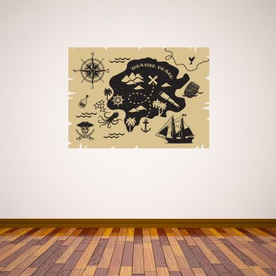 Pirate Wall Sticker Treasure Island Map