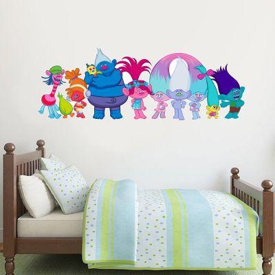 Trolls - Poppy & Group Personalised Wall Sticker