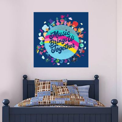 Trolls World Tour - Music Brings Us Together Wall Sticker