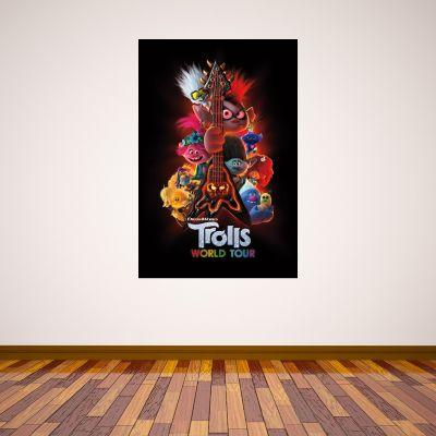 Trolls World Tour - Guitar Poster Wall Sticker