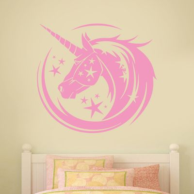 Unicorn Wall Sticker Unicorn Whirl