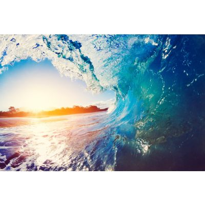 Ocean Wave at Sunrise Wall Mural