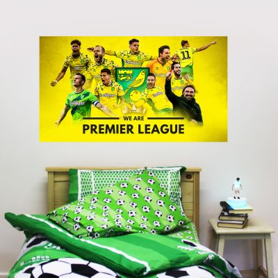 Norwich City FC - Official Ltd Edition We Are Premier League Wall Decal