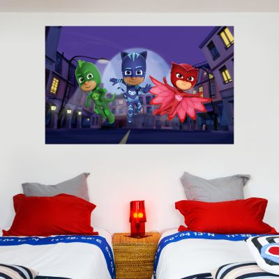PJ Masks: 3 Characters Square Wall Sticker
