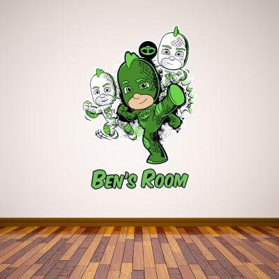 PJ Masks: Gekko Personalised Wall Sticker