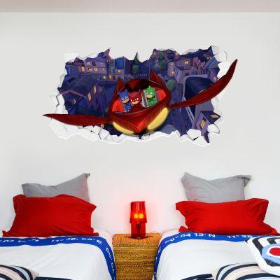 PJ Masks: Glider Broken Wall Sticker