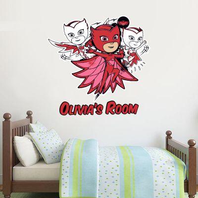 PJ Masks: Owlette Personalised Wall Sticker