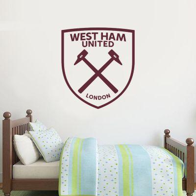West Ham United Football Club - One Colour Crest (Option 1) + Wall Sticker Set