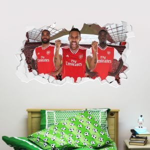 Arsenal Football Club - Attacking Trio Smashed + Gunners Wall Sticker Set