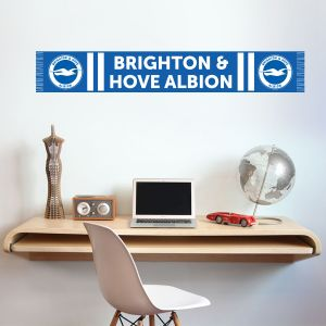 Brighton and Hove Albion FC Bar Scarf Wall Sticker