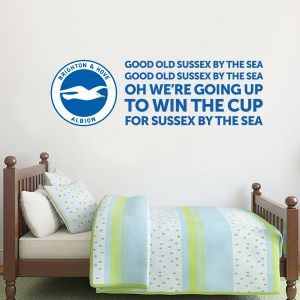 Brighton and Hove Albion FC Crest & Song Wall Sticker