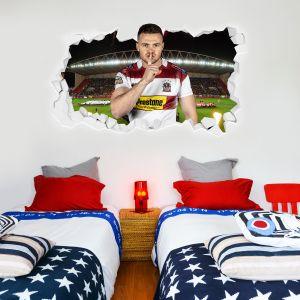 Wigan Warriors Rugby Club Joe Burgess Player Smashed Wall Sticker