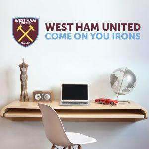West Ham United Football Club - Hammers Crest & COYI Wall Sticker
