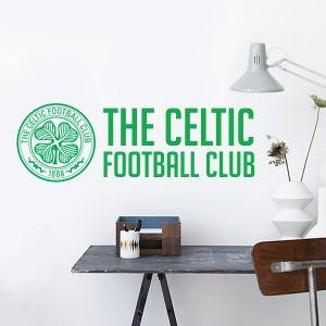 Celtic Football Club - Crest & Club Name Wall Sticker