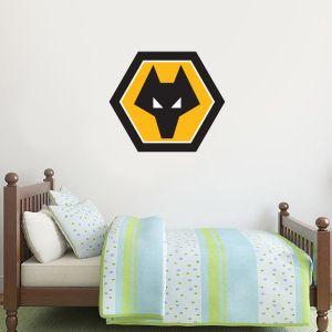 Wolverhampton Wanderers F.C. - Crest Wall Art + Wolves Wall Sticker Set