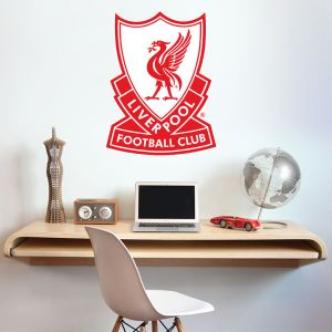 Liverpool Football Club - 80s Retro Crest Wall Decal + LFC Wall Sticker Set