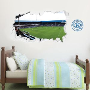 Queens Park Rangers F.C. - Smashed Loftus Road Stadium + Hoops Wall Sticker Set