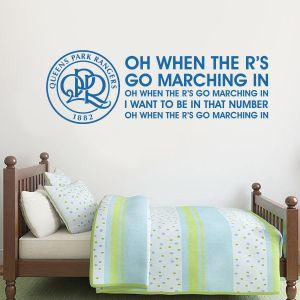 Queens Park Rangers F.C. - Crest & Song + Hoops Wall Sticker Set
