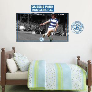 Queens Park Rangers F.C. - Stan Bowles Retro + Hoops Wall Sticker Set