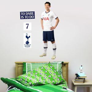 Tottenham Hotspur Football Club - Son Heung-min Player Wall Mural + Spurs Wall Sticker Set