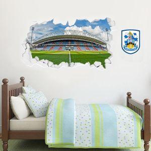 Huddersfield Town Football Club - Smashed Kirklees Stadium (Wide Shot) + Terriers Wall Sticker Set