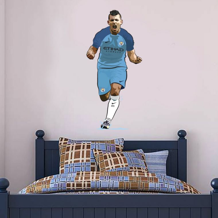 The Home of Football Wall Art Manchester City Football Club Sergio ...