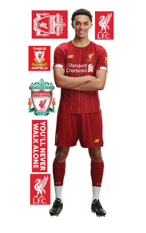best sneakers 022d6 4dbf9 Trent Alexander-arnold Wall Mural + Liverpool Wall Sticker Decal Set LFC