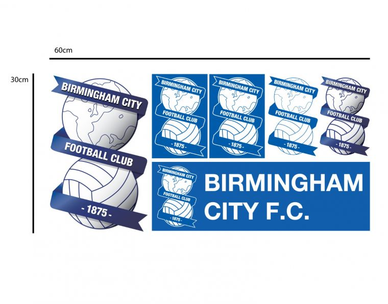 Birmingham city f c ball design personalised name wall sticker