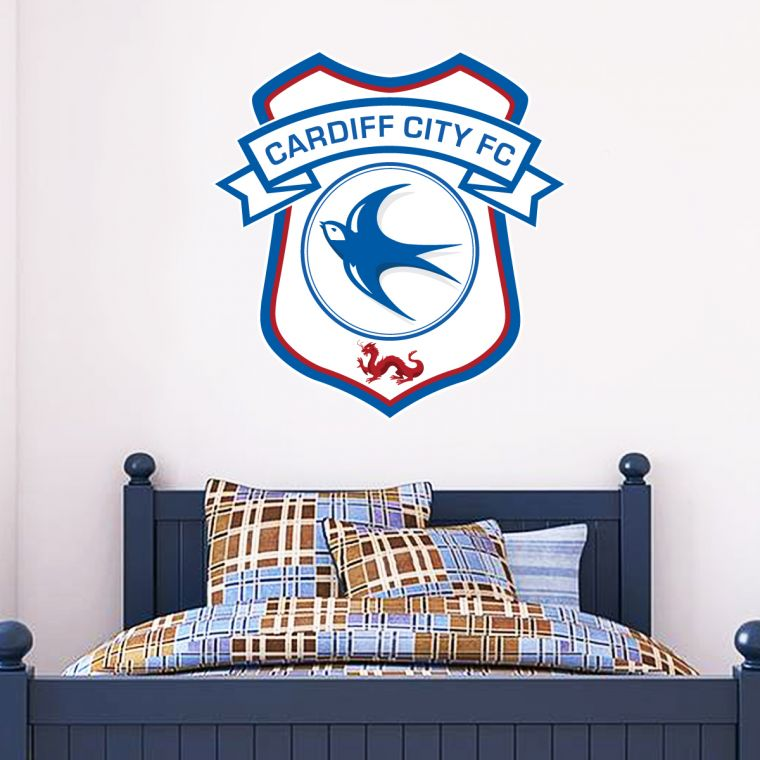 Official Licensed Football & Entertainment Wall Stickers - Cardiff ...
