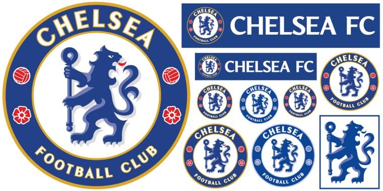 Chelsea Football Club Crest Care Free Song Wall Mural Sticker Badge Wall Decal Set