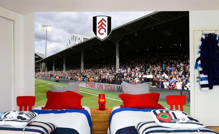 Official Fulham Football Club Crest Decal Fulham Wall Sticker Stadium Mural