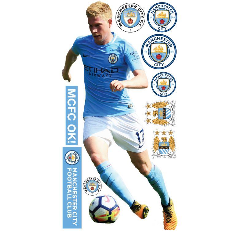 the best attitude 2ab13 2f8cc Manchester City FC - Kevin De Bruyne 2018 Player Decal + Bonus Wall Sticker  Set