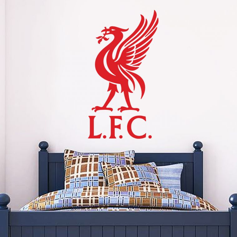 The Home Of Football Wall Art Liverpool Football Club U0027LFCu0027 And Liver Bird  Crest Wall Sticker U0026 Official Wall Sticker Badge Set The Official Home Of  ...