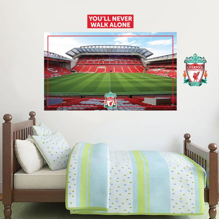 The Home Of Football Wall Art Liverpool Football The Mainstand Anfield  Stadium Mural U0026 Wall Sticker Set The Official Home Of Football Wall Stickers,  Murals ... Part 82